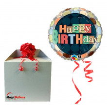 Bday dots - foil balloon in a package