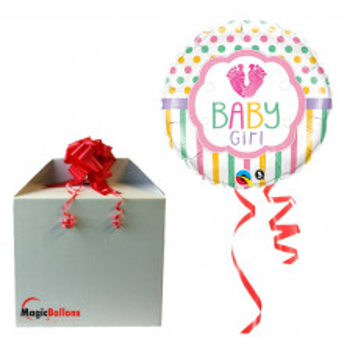 Baby girl LO(feet)E  - Folienballon in Paket