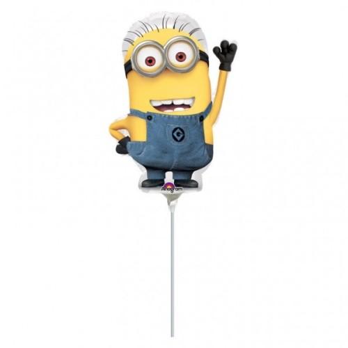 Minions - foil balloon on a stick