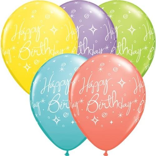 Balloon Elegant Sparkles & Swirls
