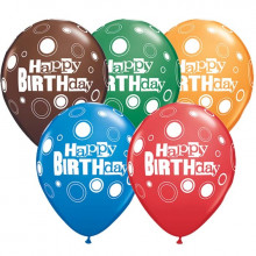Balloon Birthday Bold Dots