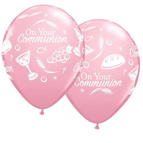 Balloon Communion symbols - pink