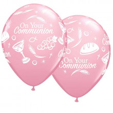 Balon Communion symbols - pink