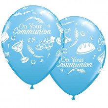 Balon Communion symbols - modra