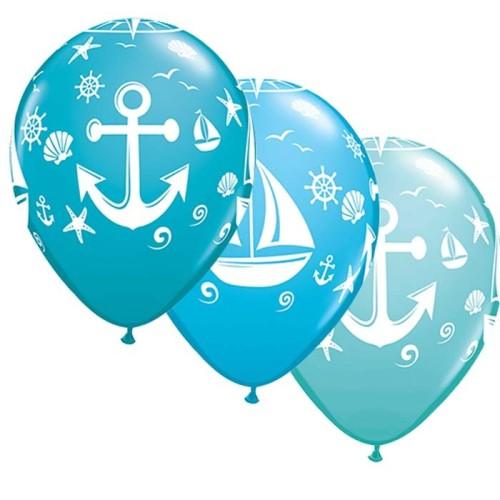 Balloon Nautical sailboat & anchor