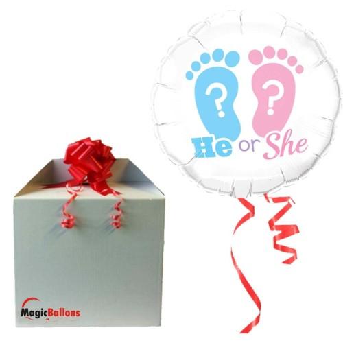He Or She? Footprints - folija balon v paketu