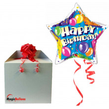 Birthday! Sparkling Balloons Stars - foil balloon in a package