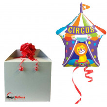 Big Top Circus Lion - foil balloon in a package