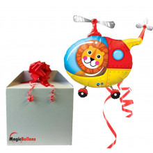 Lion Helicopter Pilot - foil balloon in a package