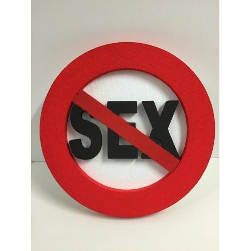 Traffic sign decoration SEX