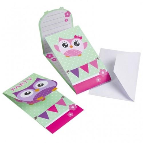 Happy Owl invitations