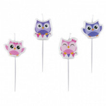 Happy Owl candles