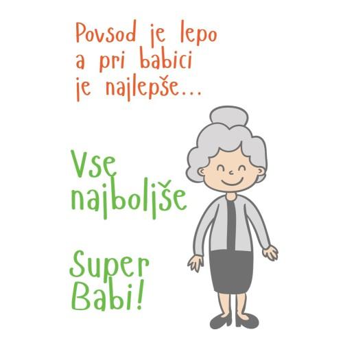 Greeting card Super Babi