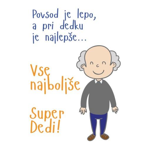 Greeting card Super  Dedi