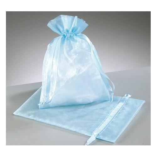 organza vrečke svetlo modra