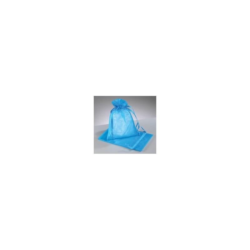organza vrečke turkizno modra