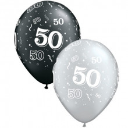 Ballon mit Nummer 50