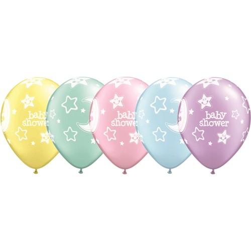 Ballon Baby Shower Moon & Stars