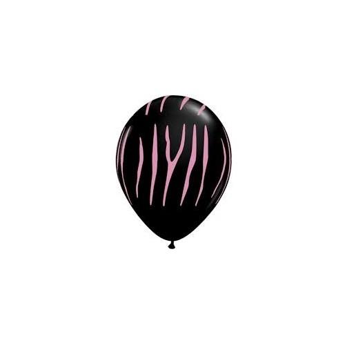 Balloon Zebra stripes - black