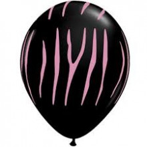Balon Zebra stripes - črn