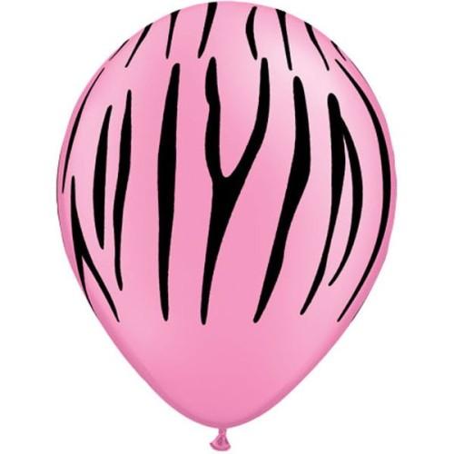 Balloon Zebra stripes - neon pink