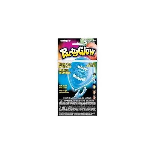 Happy Birthday baloni z LED lučko