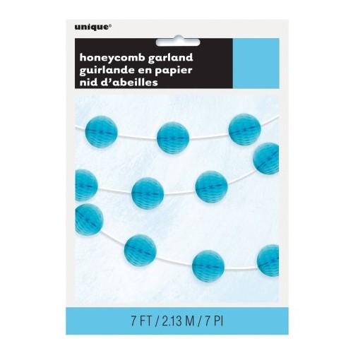Honeycomb garland - powder blue