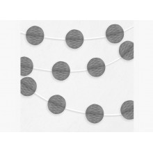 Honeycomb garland - silver