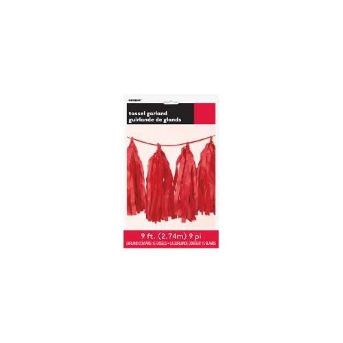 Tassel girland - red