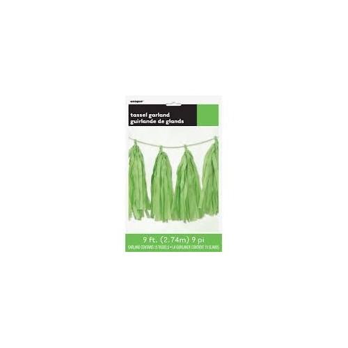 Tassel girland lime green