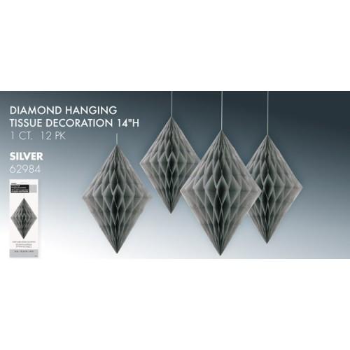Diamond decoration - silver
