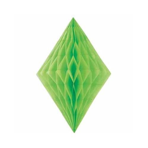 Diamond decoration - lime green
