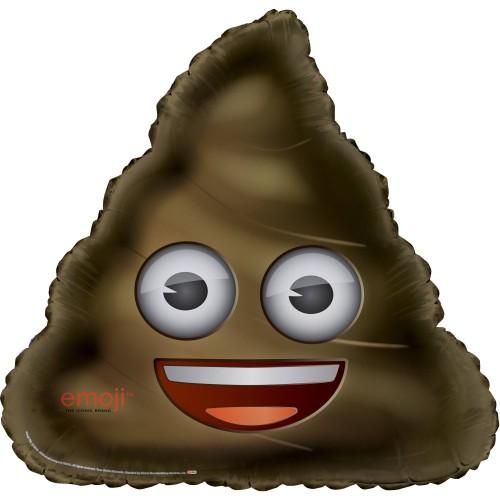Poop Emoji - foil balloon