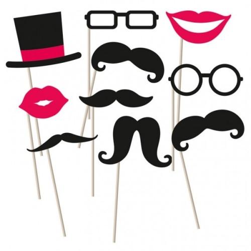 Moustache foto komplet