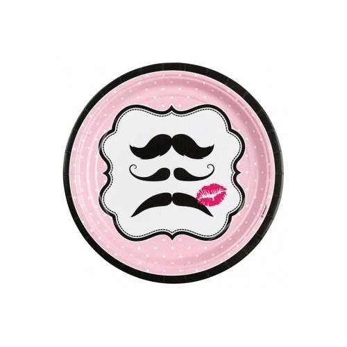 Moustache krožniki 23 cm