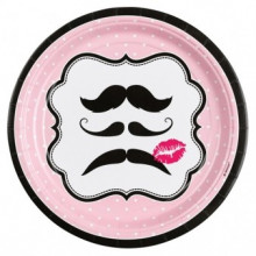 Moustache plates 23 cm