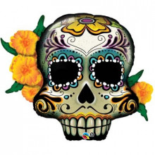 Day of the dead skulls - foil balloon in a package