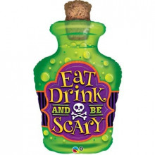 Eat Drink and be Scary  - foil balloon in a package