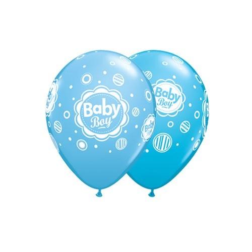 Balloon Baby boy dots