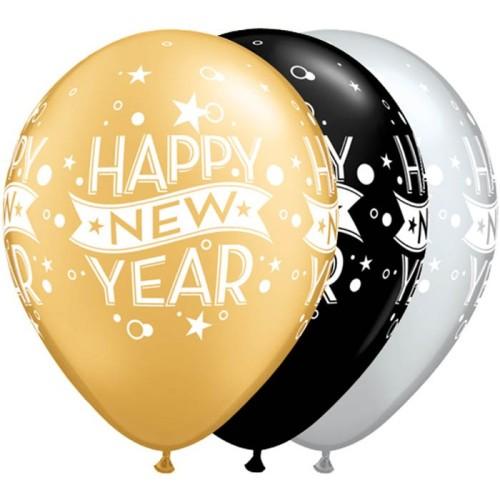 Balloon New Year Confetti Dots