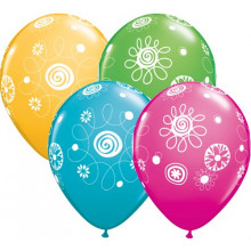 Balloon Scribble Circles & Flowers