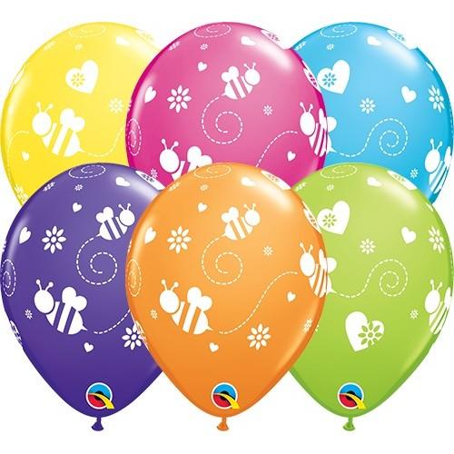 Balloon Flying Bees & Hearts