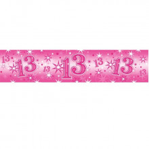 Age 13 pink Sparkle banner