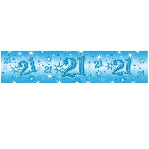 Age 21 blue Sparkle banner