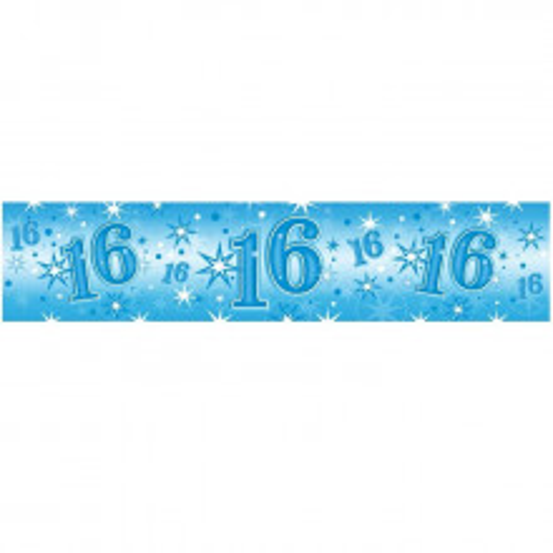 Age 16 blue Sparkle banner