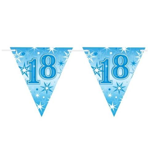 Age 18 blue Sparkle  flag banner