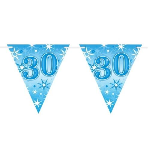 Age 30  blue Sparkle  flag banner