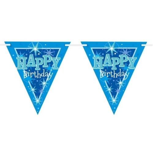 Happy Birthday blue Sparkle flag banner