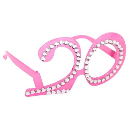 20  pink glasses
