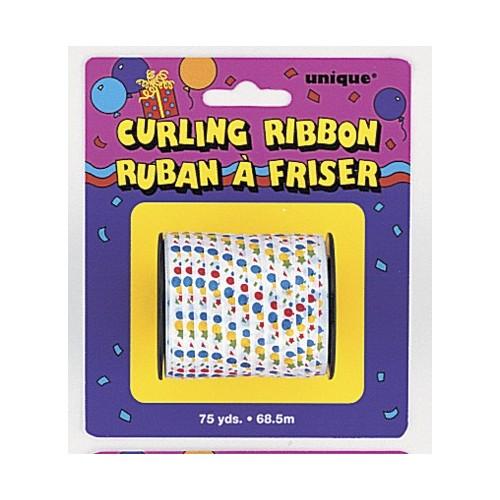 Printed Curling Ribbon 5mm-Balloons & Stars
